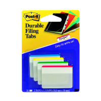 Post-it 4 Colour Strong Index Flat Filing Tabs (Pack of 24) 686-F1