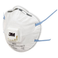 3M Cup Shaped Valved Respirator FFP2 8822 Pack of 3 XA004837663