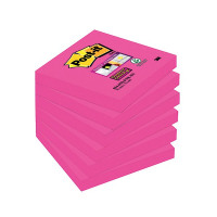Post-it Notes Super Sticky 76 x 76mm Fuchsia (Pack of 6) 654-6SS-PNK-EU