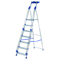 Abru Blue Seal 7 Tread Professional Aluminium Step Ladder 7050718