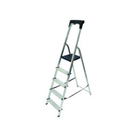 Abru Aluminium High Handrail 5 Tread Step Ladder 60605