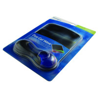 Kensington Blue /Smoke Duo Gel Wrist Rest Mouse Pad 62401