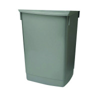 Addis 60 Litre Flip Top Bin Base Metallic 504896