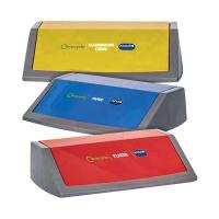 Addis Red/Yellow/Blue Recycling Bin Kit Lids Metallic (Pack of 3) 505575