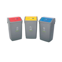 3 x Addis Recycling Bin Kit (3 different coloured bins with 60 litre capacity each) 505575/505574