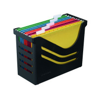 Jamema Recycled Office Box with 5 Suspension Files A4 Black A658026998