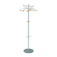 Alba Elegant Wave Metal and Wood Coat Stand PMWAVE