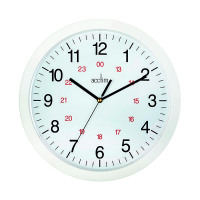 Acctim Metro 24 Hour Plastic Wall Clock 300mm White 21162
