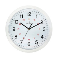 Acctim White Metro 24 Hour Plastic Wall Clock 300mm 21162