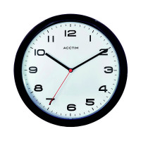 Acctim Aylesbury Wall Clock Black 92/302