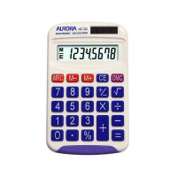 Aurora 8 Digit Pocket Calculator White HC133
