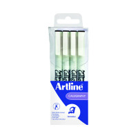 Artline Calligraphy Pen Set Assorted Nibs Black (Pack of 4) EK-240W4