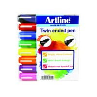 Artline 2-in-1 Flipchart Assorted Marker (Pack of 8) EK-325T-W8