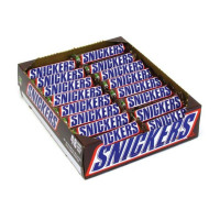 Mars 48g Snickers Pack of 48 (No artificial colours, flavours or preservatives) 0401057