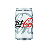 Diet Coca-Cola Soft Drink 330ml Can (Pack of 24) 100224