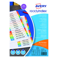 Avery Readyindex Mylar Extra Wide Punched 1-10 05065501