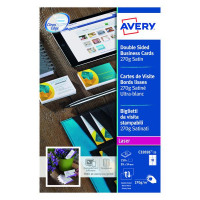 Avery Satin White Double Sided Laser Business Cards 85 x 54mm 270gsm (Pack of 250) C32026-25