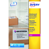 Avery Weatherproof White Parcel Label 99.1 x 67.7mm 8 Per Sheet (Pack of 200) L7993-25