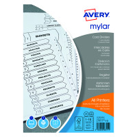 Avery Mylar Bright White 1-10 A4 Numeric Divider 05248061