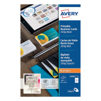 Avery Matte White Multipurpose Business Cards 85 x 54mm Pack of 250 C32011-25