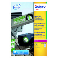 Avery White Heavy Duty Laser Labels 45.7 x 21.2mm (Pack of 960) L4778-20