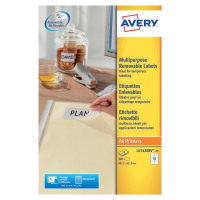 Avery Removable Laser Label 99.1 x 42.3mm (Pack of 300) L4743REV-25