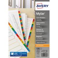 Avery Mylar Bright White 1-25 A4 Numeric Divider 05225061