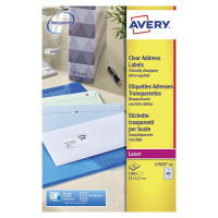 Avery Clear Laser Mini Labels 22x12mm (Pack of 1200) L7553-25