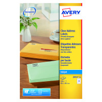 Avery Clear Inkjet Label 99x38mm (Pack of 350) J8563-25