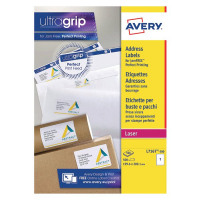 Avery White Laser Parcel Labels 199.6 x 289.1mm 1 Per Sheet (Pack of 500) L7167-500