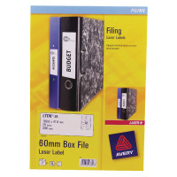 Avery Laser Box File Labels 41x100mm (Pack of 300) L7176-25