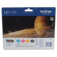 Brother LC-1100 Black /Cyan/magenta/Yellow Inkjet Cartridge (Pack of 4) LC1100VALBP