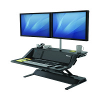 Fellowes Lotus DX Sit-Stand Workstation Black 8081001