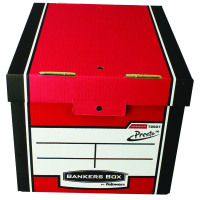 Fellowes Bankers Box Tall Storage Box Red Pack of 12 Buy 2 Get FOC Iderama Binders BB810565