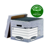 Bankers Box Storage Box Grey Standard (Pack of 10) 00810-FF