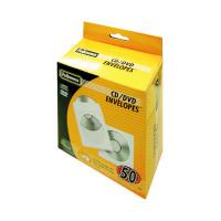 Fellowes CD Envelope White Paper (Pack of 50) 90690