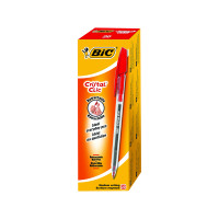 Bic Cristal Clic Retractable Ballpoint Pen Medium Red (Pack of 20) 850734