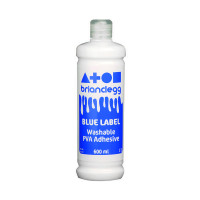 Brian Clegg PVA Glue Blue Label 600ml