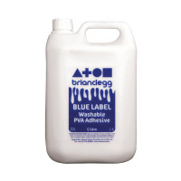 Brian Clegg PVA Glue Blue Label 5 Litre