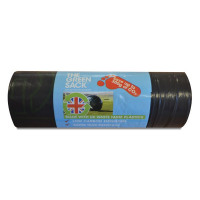 The Green Sack Medium Duty Refuse Sacks on a Roll Black (Pack of 15) GR0771