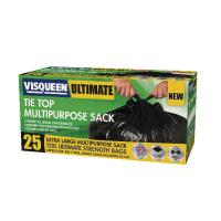 Visqueen Ultimate Tie Top Multipurpose Sack 120 Litre Black RS057771