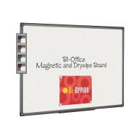 Bi-Office Magnetic Whiteboard 1800x1200mm Aluminium Finish MB8506186
