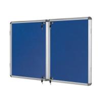 Bi-Office Lockable Internal Display Case 1780x1180mm Blue VT770107150