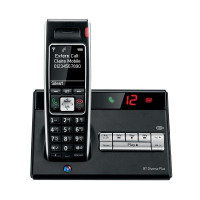 BT Diverse 7450 R DECT Cordless Phone With Answer Machine Black 060746