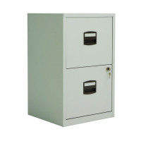 Bisley A4 Personal Filing 2 Drawer Lockable Grey BY57825