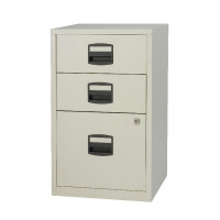Bisley A4 Home Filer 3 Drawer Lockable Grey BY59269