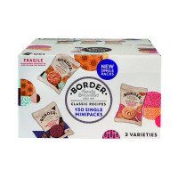 150 x Border Biscuits Single Packs (Contains: Whirls, Cookies and, Golden oat crumbles) A08071