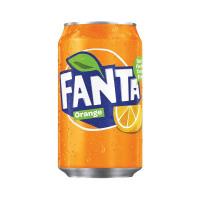 Fanta Orange Soft Drink 330ml Can (Pack of 24) 402006 A00769