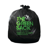 The Green Sack Heavy Duty Black Refuse Sack (Pack of 200) KMAXHD