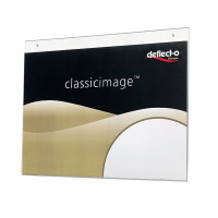 Deflecto Clear Wall Sign Holder A3 Landscape DE48000